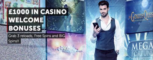 £1000 in welcome bonuses at Betsafe Casino