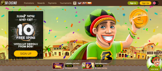 bob casino promotion and reviews