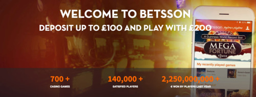 Double your initial deposit at Betsson Online Casino