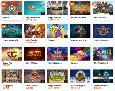 Jackpot slots at Betsson Online Casino