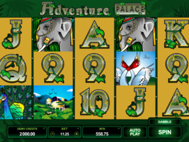 Play free Adventure Palace slot by Microgaming
