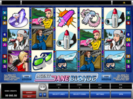 Play free Agent Jane Blonde slot by Microgaming