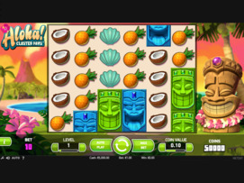 Play free Aloha! Cluster Pays slot by NetEnt