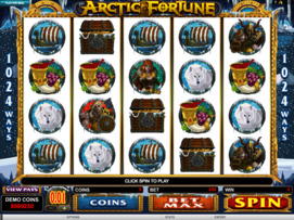 Play free Arctic Fortune slot by Microgaming