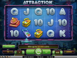 Play free Attraction slot by NetEnt