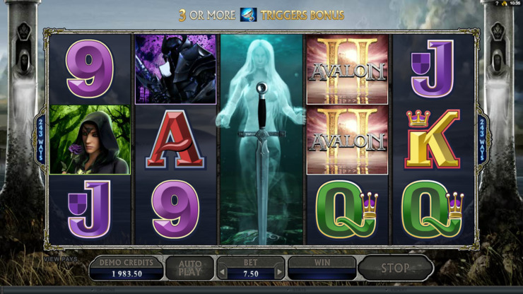 Play free Avalon II slot by Microgaming