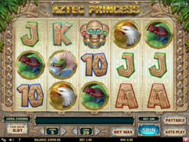 Play free Aztec Princess slot by Play'n GO