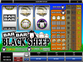 Play free Bar Bar Black Sheep slot by Microgaming