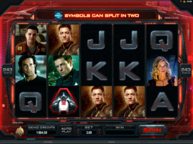 Play free Battlestar Galactica slot by Microgaming