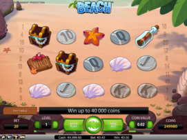 Play free Beach slot by NetEnt