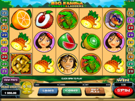 Play free Big Kahuna Snakes and Ladders slot by Microgaming