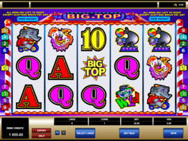Play free Big Top slot by Microgaming