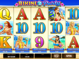 Play free Bikini Party slot by Microgaming