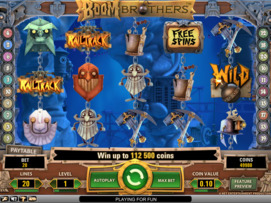 Play free Boom Brothers slot by NetEnt