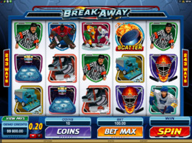 Play free Break Away slot by Microgaming