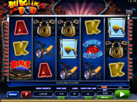 Play free Burglin Bob slot by Microgaming