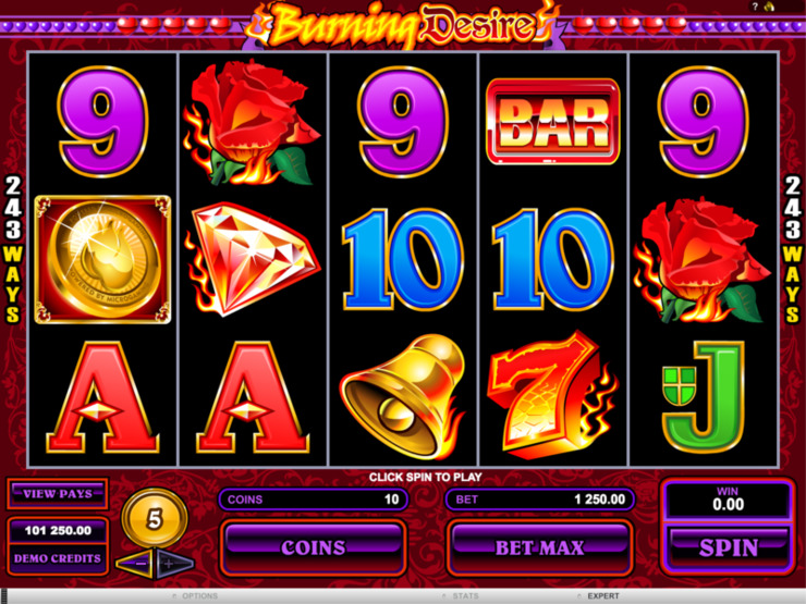 Play free Burning Desire slot by Microgaming