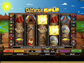 Play free California Gold slot by Microgaming