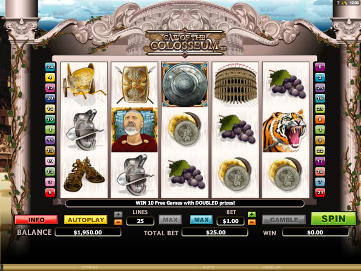 Play free Call Of The Colosseum slot by Microgaming