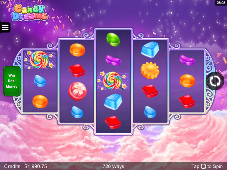Play free Candy Dreams slot by Microgaming