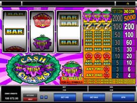 Play free Cash Clams slot by Microgaming