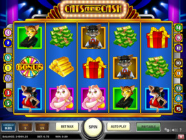 Play free Cats and Cash slot by Play'n GO