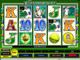 Play free Centre Court slot by Microgaming