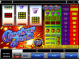 Play free Cracker Jack slot by Microgaming