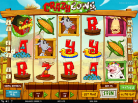 Play free Crazy Cows slot by Play'n GO
