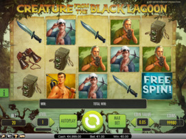 Play free Creature From the Black Lagoon slot by NetEnt
