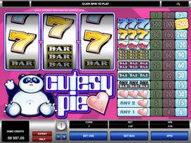 Play free Cutesy Pie slot by Microgaming