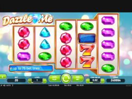 Play free Dazzle Me slot by NetEnt