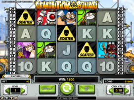 Play free Demolition Squad slot by NetEnt