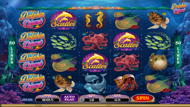 Play free Dolphin Quest slot by Microgaming