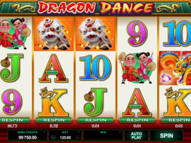 Play free Dragon Dance slot by Microgaming