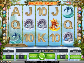 Play free Dragon Island slot by NetEnt