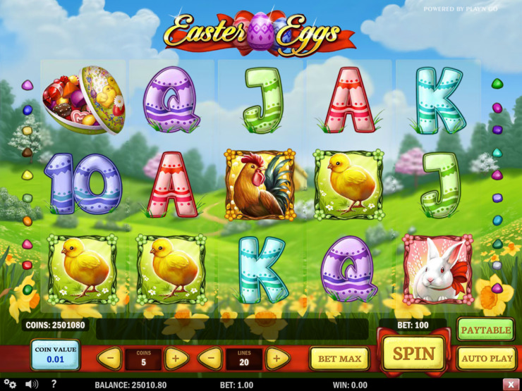 Play free Easter Eggs slot by Play'n GO