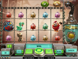 Play free EggOMatic slot by NetEnt