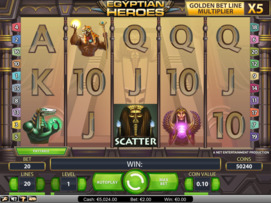 Play free Egyptian Heroes slot by NetEnt