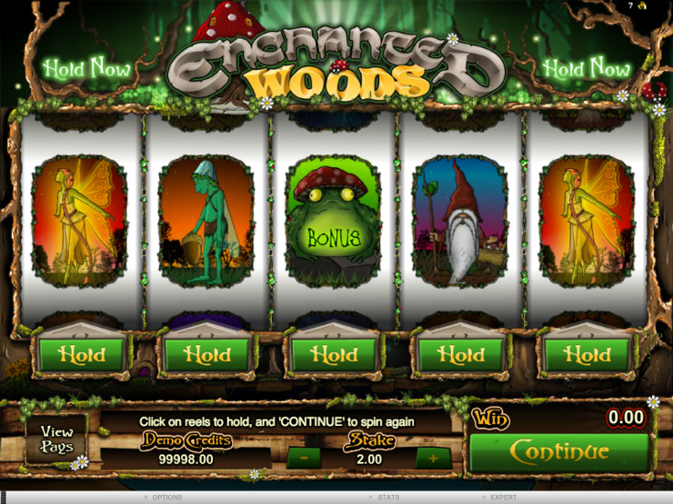 Play free Enchanted Woods slot by Microgaming