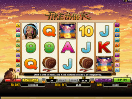 Play free Fire Hawk slot by Microgaming