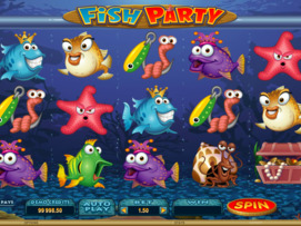 Play free Fish Party slot by Microgaming