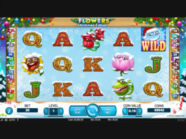Play free Flowers Christmas Edition slot by NetEnt