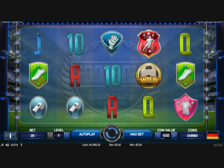 Play Free Football: Champions Cup slot by NetEnt