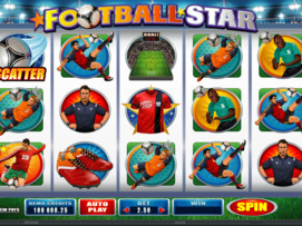 Play free Football Star slot by Microgaming