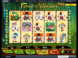 Play free Forest of Wonders slot by Microgaming