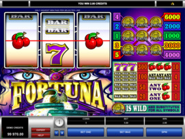 Play free Fortuna slot by Microgaming