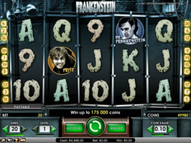 Play free Frankenstein slot by NetEnt