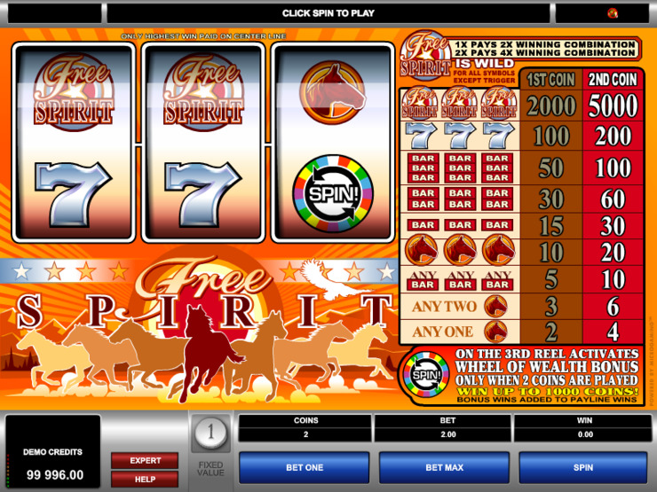 Play free Free Spirit Wheel of Wealth slot by Microgaming