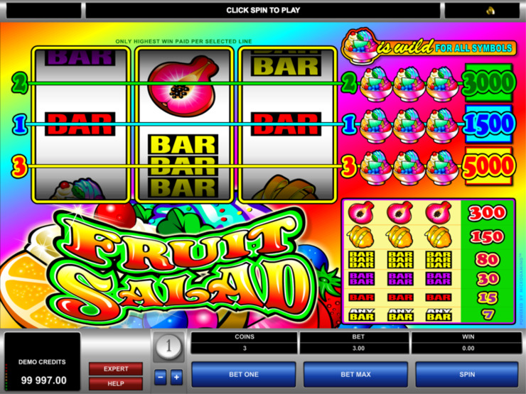 Play free Fruit Salad slot by Microgaming